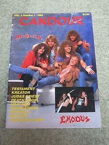CANDOUR-Helloween-exodus-Testament-Kreator-Judas-Priest-Vol-1-No1-1989-MAGAZINE