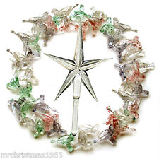 50 Vintage Medium Glitter Doves & Large  Star for Ceramic Christmas Trees -RARE-