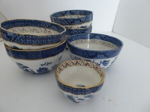 Booths-Real-Old-Willow-Bowls-Gilt-Various-Sizes-8-available-A-8025