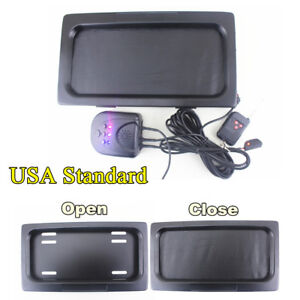 US-Hide-Away-Shutter-Cover-Up-Electric-Stealth-License-Plate-Frame-w-Remote