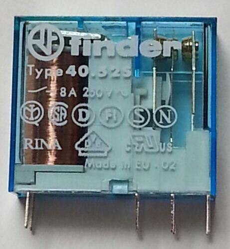 40.52.7.024.5000  FINDER 4052 Relais Print 2xU 8A 24VDC 1200R Sensetiv #BP 1 pc