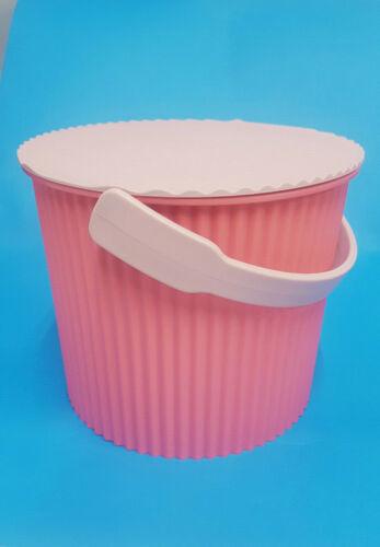 4 Liter Größe mini Hachiman Eimer mit Deckel flamingo // rosa