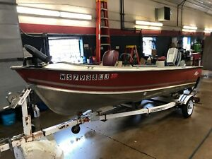 16' Lund Pike 16 70HP Evinrude w/ Easy Loader Trailer  T1290412