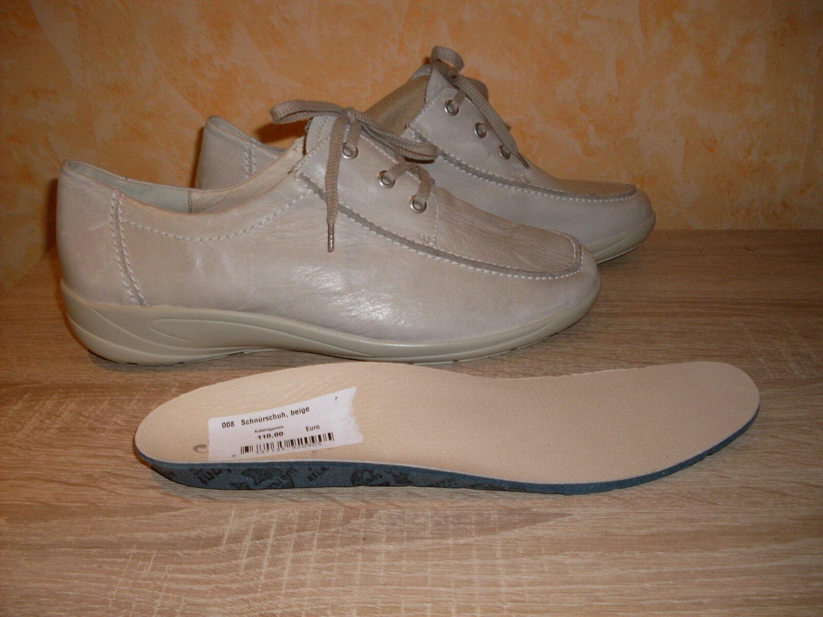 Zapatos de mujer baratos zapatos de mujer Descuento por tiempo limitado Semler Laufschuh Schnürschuh NEU Gr. 9 43 Weite K in beige & Nappa Leder