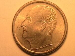 1959 NORWAY 25 Ore Choice BU+ Lustrous Twenty Five Ore Norwegian Norge Coin