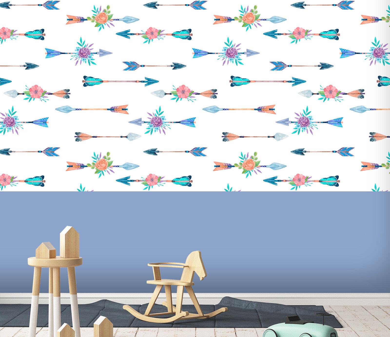 3D Blau Pfeil Blaume 23 Tapete Wandgemälde Tapete Tapeten Familie Kinde DE Lemon