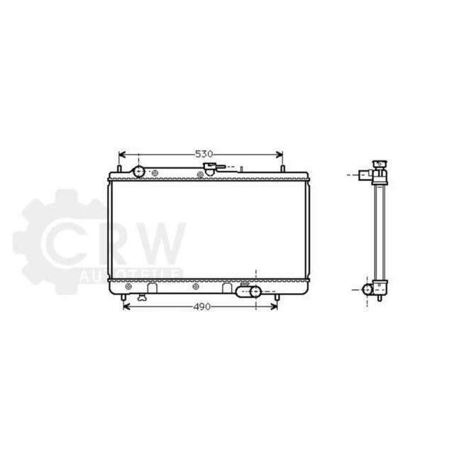 Refrigeración Del Motor Radiador Enfriador Mazda 323F IV Bg