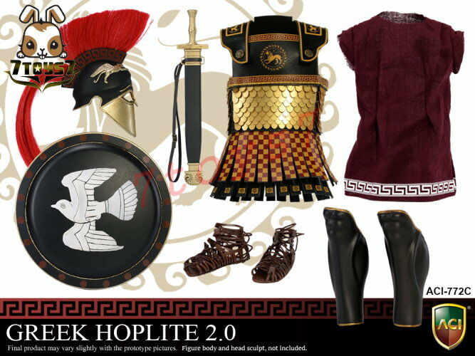 ACI Toys 1 6 Power Set Greek Hoplite 2.0_ Loose Set C _Warriors Ancient AT100YY