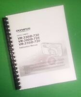 Color Printed Olympus Camera Vr-320 D-725 Manual User Guide 76 Pages.