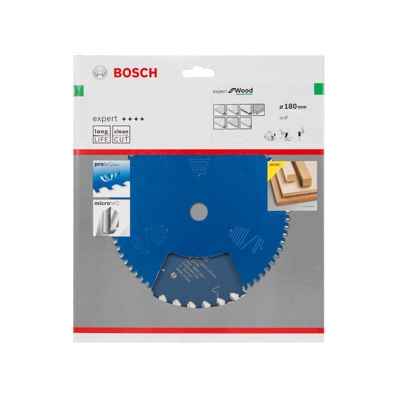 Bosch Hm-Sägeblatt 180x2,6x30 Z36 2608644033 Expert for Wood, für Handkreissägen