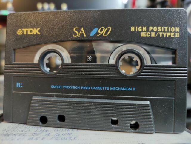 2x TDK SA 90 Minute Super High Resolution Type II Audio Cassette Tape
