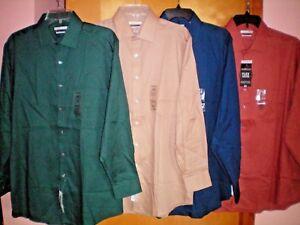 NWT-NEW-mens-VAN-HEUSEN-l-s-flex-collar-pin-cord-dress-shirt-regular-fit-50