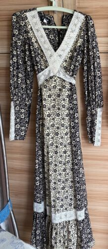 Vintage 70s Gunne Sax Jessica Dress Size7