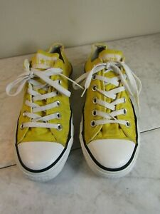 Converse-All-Star-Classic-Lace-Up-Bright-Yellow-Sneakers-Shoes-Men-6-Women-8