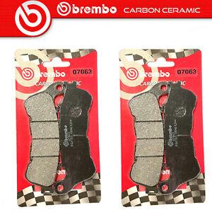 2 Couples Plaquette de Frein BREMBO Avant pour Honda CB 600 F Hornet ABS 600 07>