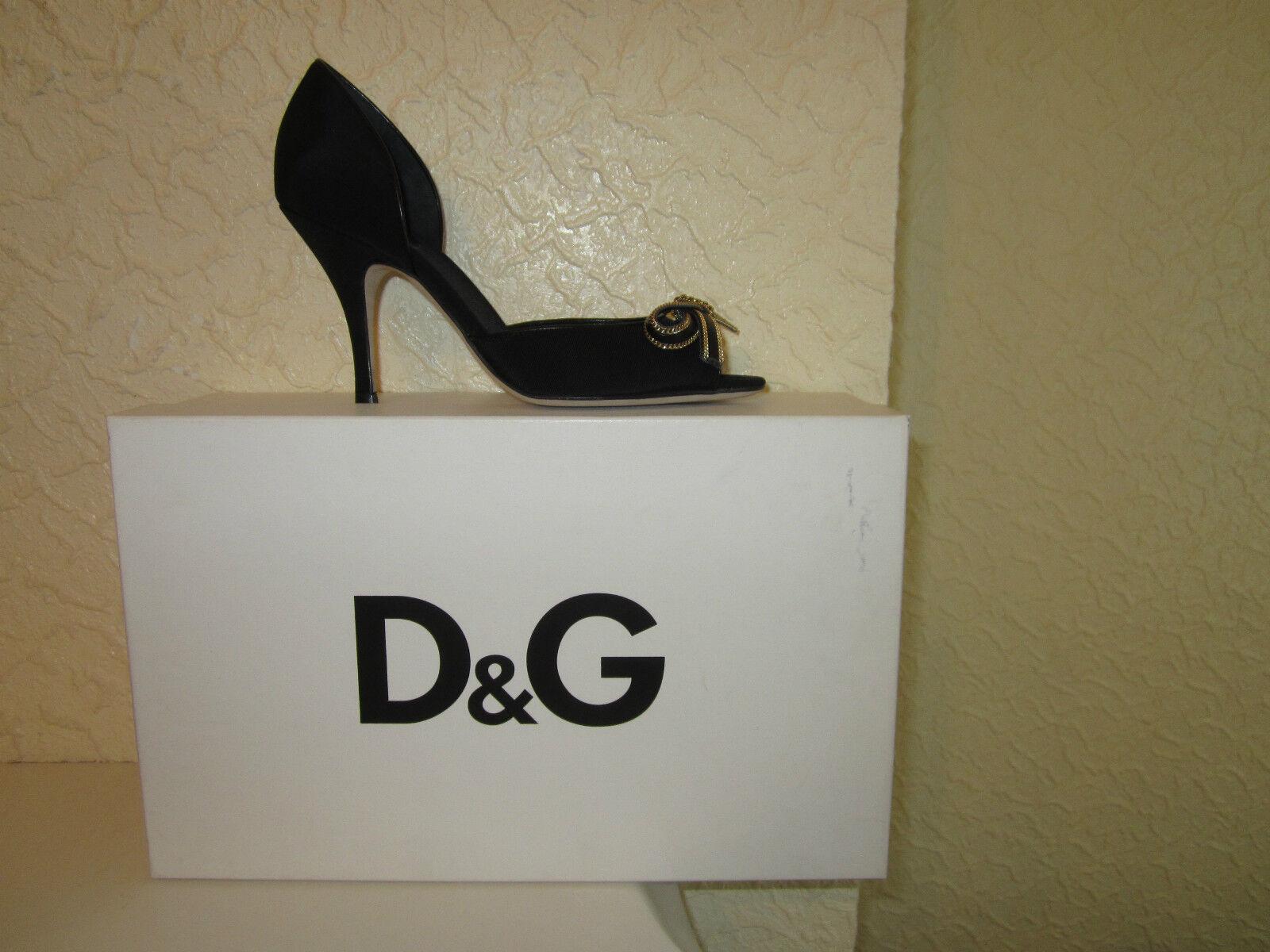 D&G GABBANA DOLCE & GABBANA D&G peep toe bow shoes 401786