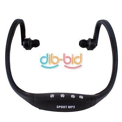 Wireless Sport Earphones Headphones MP3 Player TF Card FM Radio Headset