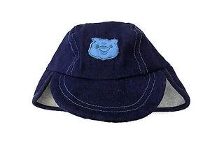 Baby Boys Warm Blue Denim Teddy Bear Sherpa Hat 50cms 12-24m 1-2 yr ... 50f06b6c784