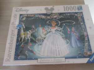 NEW AND SEALED 1000 PCE COLLECTORS EDITION JIGSAW DISNEY CINDERELLA