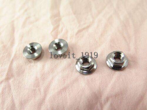 4//10pc Titanium Hex flange nuts M5 M6 M8 M10  metric HEX nuts