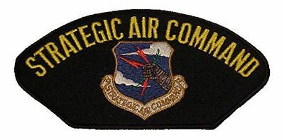 USAF US Air Force Strategic Air Command SAC Crest Badge Patch Subdued Obsolete