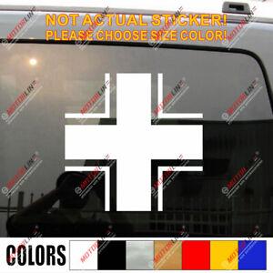 Iron Cross of German Armed Forces Wehrmacht Car Decal Sticker Balkenkreuz vinyl