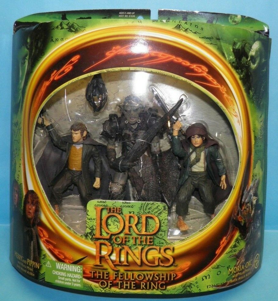 ToyBiz The Lord of the Rings Merry Pippin & Moria Orc The Fellowship of the Ring