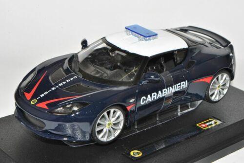 Lotus Evora S IPs Coupe carabineros azul 1//24 Bburago modelo coche con o sin...