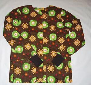 NEW-Scrubs-Print-Scrub-Jacket-XL-Brown-Fantasy-Fall-Colors