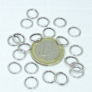 180 Anillas Cerradas 10x1,3mm  T330C Entrepiezas Closed Jump Rings Anneau Anello