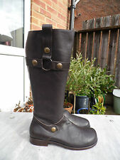 BIRKENSTOCK SIZE 7 EUR 41 FOOTPRINTS 100% LEATHER BROWN BOOTS RRP 170.00