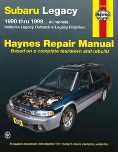 Haynes Workshop Manuale SUBARU LEGACY OUTBACK Brighton 1990-1999 Riparazione