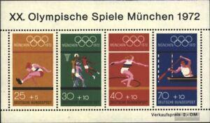 BRD-BR-Deutschland-Block8-kompl-Ausgabe-postfrisch-1972-Olympiade