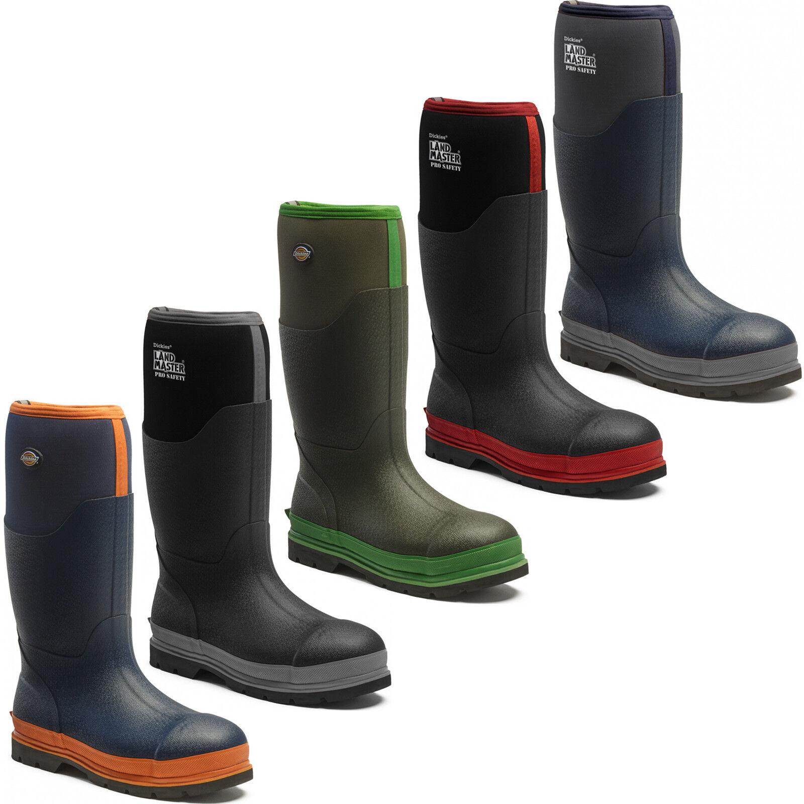 Dickies Landmaster pro Sicherheit Stahlkappe Gummistiefel Wasserfeste Stiefel