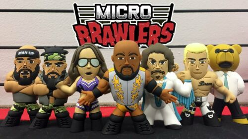 """Ring Of Honor Micro Brawler Official ROH Burnard /""""The Business Bear/"""" Figure"""