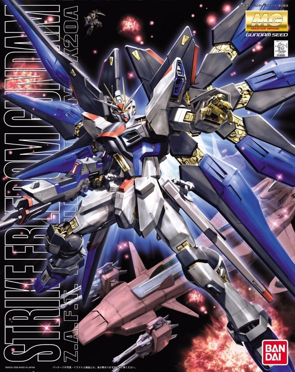 BANDAI MG 1 100 ZGMF-X20A STRIKE FREEDOM Gundam Plastic Model Kit Gundam SEED