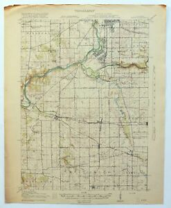 Map Of America Rockford.Details About Kings Illinois Antique 1918 Usgs War Department Topo Map Rockford Topographical
