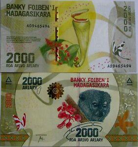 "BILLETE "" MADAGASCAR "" 2000 ARIARY AÑO 2017 UNC PLANCHA hCHMFKLl-07134334-781013696"