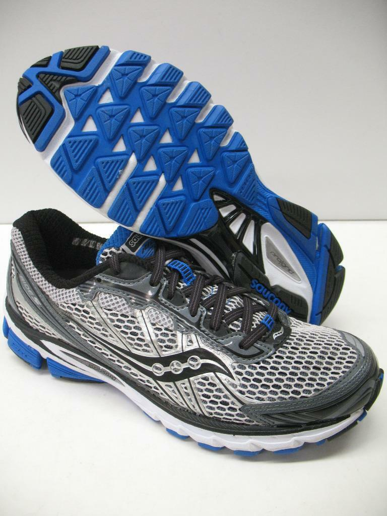 New Saucony ProGrid Ride 5 Neutral Running Training Shoes Gray Boys Mens 8