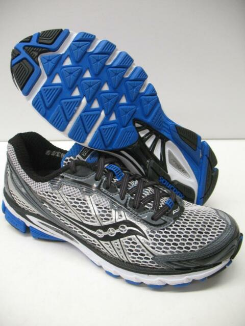 New Saucony ProGrid Ride 5 Neutral Running Training Race Shoes Gray Blue Mens 8
