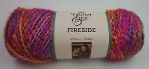 1 Skein Yarn Bee Fireside yarn  Fuchsia - Palooza color  Bulky Yarn