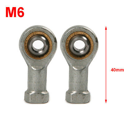 2Pcs M6 x 1.0mm Female Right Hand Threaded Rod End Joint Bearing Hole 20mm