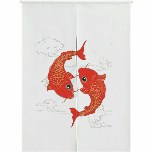 Chinese Door Curtain Feng Shui Fish Doorway Room Divider Kitchen Tapestry