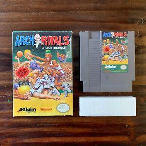 1990-Nintendo-ARCH-RIVALS-Game-Original-Box-amp-Styrofoam-NES-Acclaim-Tested-Works