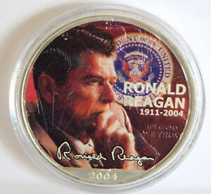 PRESIDENT-RONALD-REAGAN-COLORIZED-999-SILVER-2004-WALKING-LIBERTY-EAGLE-1-OZ