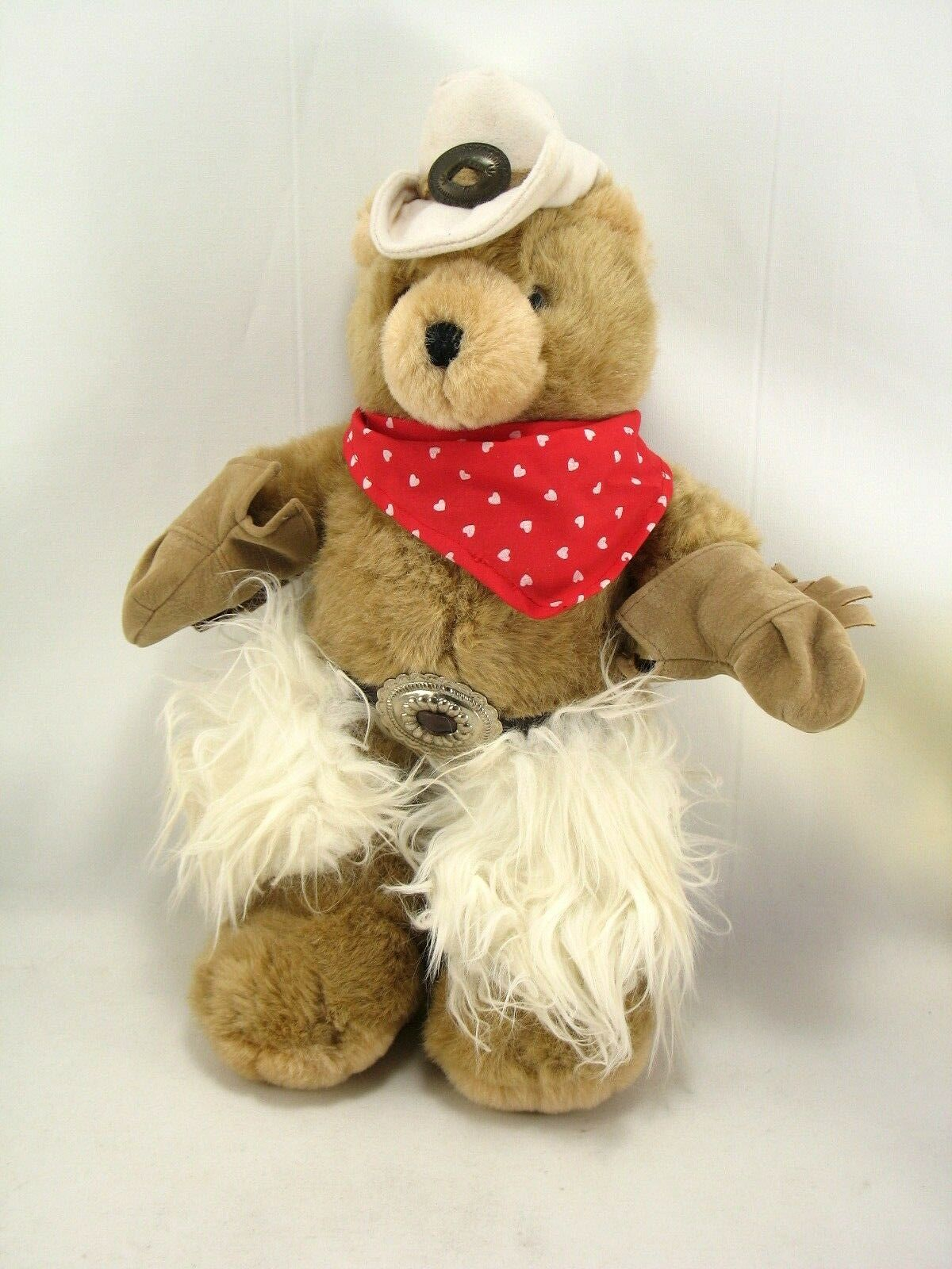 OZ Enterprises 1994 15  Cowboy Teddy Bear Plush Chaps, Hat, Bandana