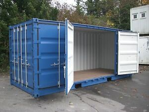 seecontainer 20ft side door materialcontainer lagercontainer container bau ebay. Black Bedroom Furniture Sets. Home Design Ideas