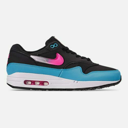 New Nike Men's Air Max 1 shoes (CI2450-001)  Light blueee Laser Fuchsia Black
