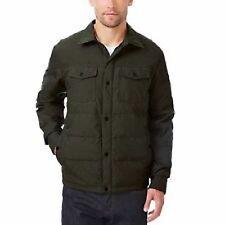 32 Degrees Weatherproof Men's Packable Down Shirt Jacket, X Large color green