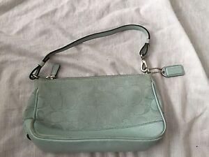8d1a95666a8 Image is loading Authentic-Coach-Baguette-Monogram-Jacquard-Leather-Blue- Baguette-